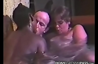 Indecorously babe blows and rides cock in pool threeway