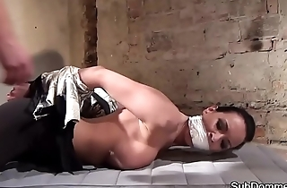Euro milf restrained by maledom master