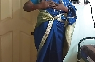 des indian horny cheating tamil telugu kannada malayalam hindi wife vanitha wearing off colour colour saree  showing big boobs and shaved pussy press hard boobs press nip rubbing pussy masturbation