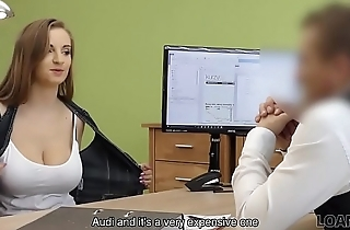 LOAN4K. Buxom babe gets fucked on table of loan manager for top-hole