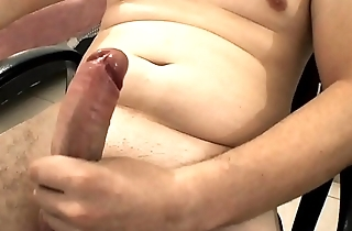 My solo cumshot fat cock