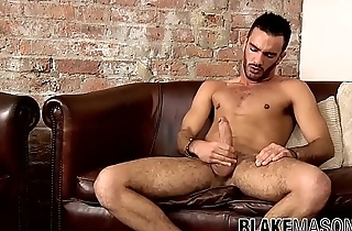 Latino jock Alejandro Alvarez cums stroking and anal playing