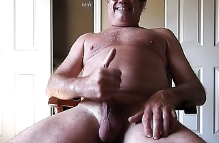 Naked daddy masturbating (and cumming) to a Madonna song.