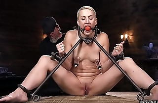 Hanged to ankles ass steadfast whipped