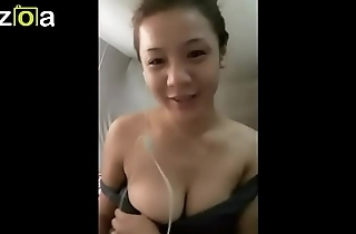 Beautiful Thai Girl showing her chest in a video call