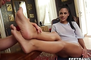 Apolonia Lapiedra spiced up coition with some foot fetish