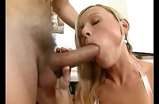 Dudes cum on slut Katy Sweet'_s soft pussy after stuffing her with dicks in threesome