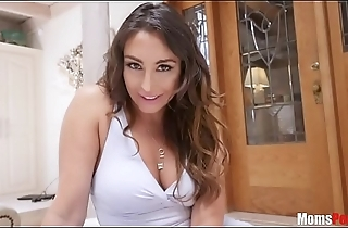Hot mom gets her pussy eaten by her dear son