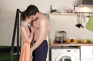 18 Virgin Sex - Sweet cutie runs into excited dude