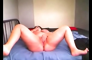 Romanian BBW ClariceonFire spreading her legs,rubbing her clit and playing with a sex trinket
