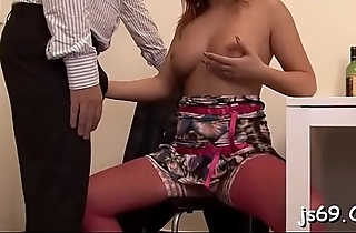 Amateur babe enjoys a fuck session with an older chap