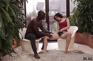 BLACK4K. Teen Kristy Black has spontaneous interracial sex at work