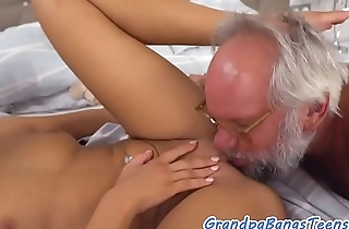 Delicious eurobabe jizzed in brashness by oldman