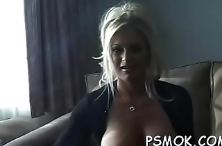 Elegant expensive with great ass fingering her moist pussy