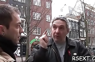 Horny man pays some amsterdam hooker for steaming sex