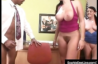 Office Sluts Sophie Dee &amp_ GF Fuck Black Blarney Boss!