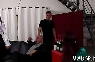 Lucky man gets fucked off out of one's mind a group of smoking hawt girls