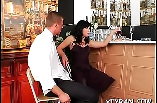 Sexy femdom fetish boxing-match whit sub stud getting whip up ass