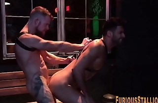 Ripped bears fuck with an increment of cum