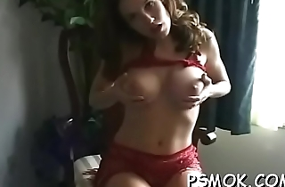 Naked bombshell with wonderful bowels enjoys a relaxing smoke session