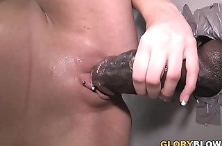 Kaylee Hilton Plays Pleases A Big Black Cock At Gloryhole