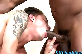 Massaged hung hunk cums