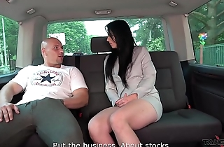 Dirty Brunette is Getting a Cock in the brush Ass Hole in the Pick-Up Van