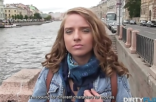 Fake producer fucks naive Russian babe and films her