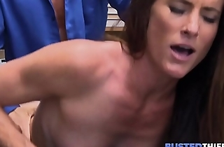 Skinny MILF Fucked By Security Officer