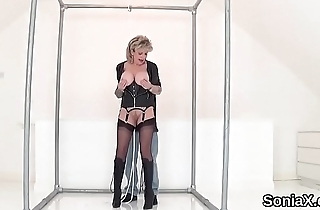 Unfaithful english milf lady sonia reveals her monster titties
