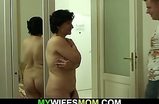 Son-in-law screws will not hear of old hairy pussy
