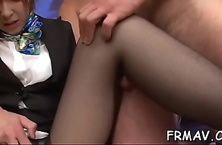 Naughty japanese babe amazes with sexually excited footjob