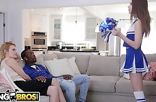 BANGBROS - Cheerleader Riley Reid Rides Her Mom'_s Boyfriend'_s Big Black Dick