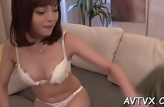 Stud is identity card and tasting japanese babe'_s bushy cum-hole
